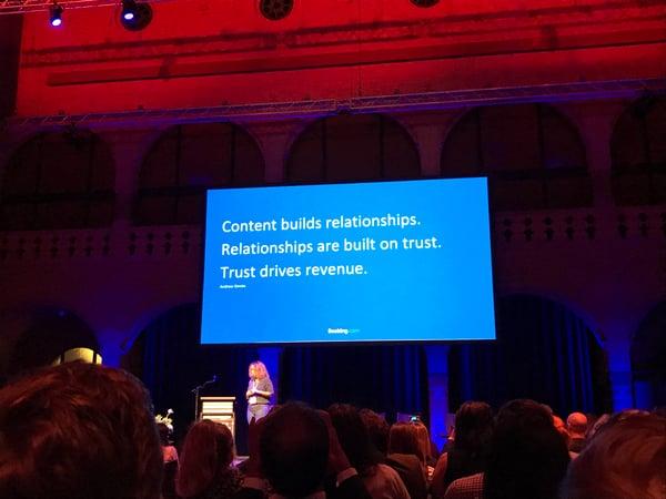 Sisältö rakentaa suhteita. Suhteet perustuvat luottamukseen. Luottamus luo liikevaihtoa.
